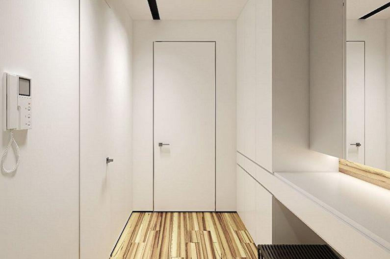 Petit couloir dans le style du minimalisme - Design d'intérieur