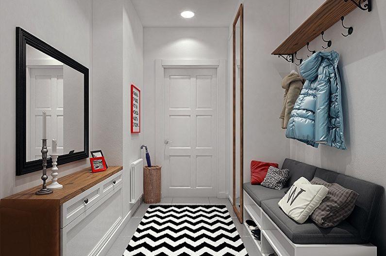 Petit hall d'entrée de style scandinave - Design d'intérieur
