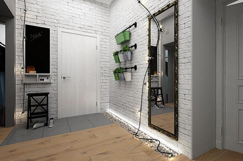 Petit couloir loft - Design d'intérieur