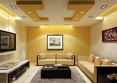 Plafonds en placoplâtre (85+ photos)