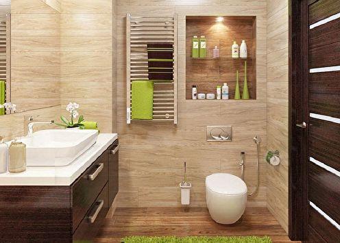 70+ idées de décoration murale de toilettes (photos)
