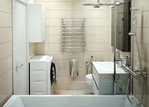 Salle de bain 5 m²: idées de design (90 photos)