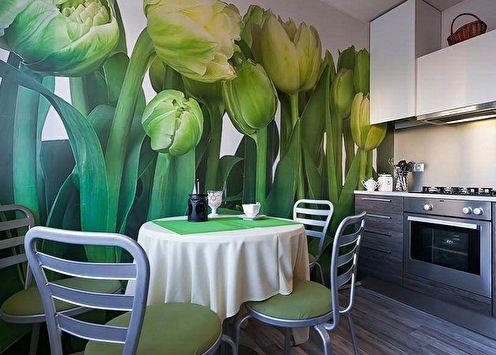 Couleur du papier peint pour la cuisine: 90 idées de photos