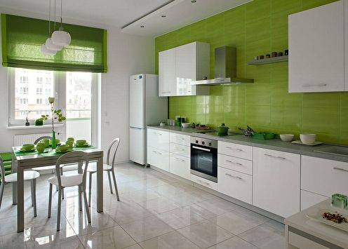 Cuisine blanc-vert: 90 idées de design (photo)