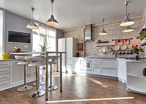 Conception de cuisine dans le style loft (90 photos)