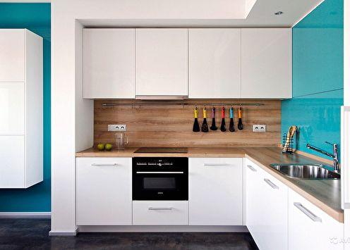 Finition du mur de travail dans la cuisine (80 photos)